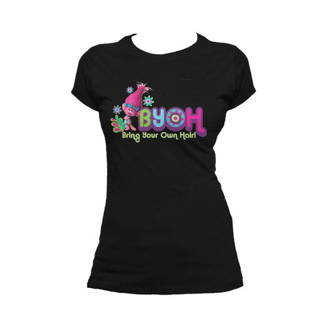 Trolls BYOH Official Women's T-Shirt (Black) - Urban Species Ladies Short Sleeved T-Shirt