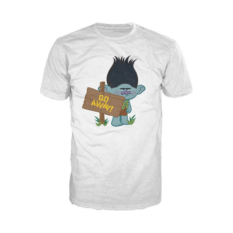 Trolls Go Away Official Men's T-Shirt (White) - Urban Species Mens Short Sleeved T-Shirt