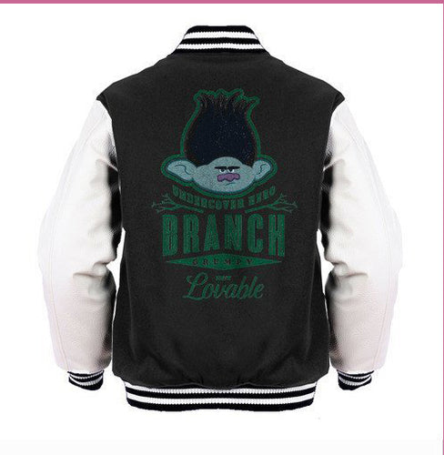 Trolls Branch Official Varsity Jacket (Black) - Urban Species Varsity Jacket
