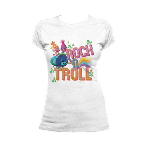Trolls Rock n Troll Official Women's T-Shirt (White)