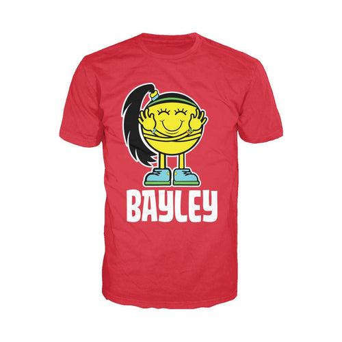 WWE Bayley Logo Little Miss Official Men's T-shirt (Red)