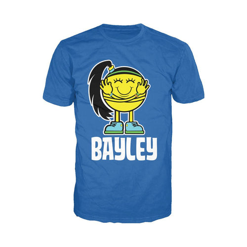 WWE Bayley Logo Little Miss Official Men's T-shirt (Royal Blue) - Urban Species Mens Short Sleeved T-Shirt