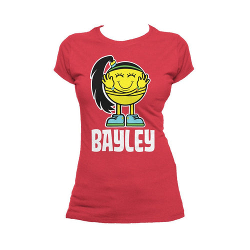 WWE Bayley Logo Little Miss Official Women's T-shirt (Red)
