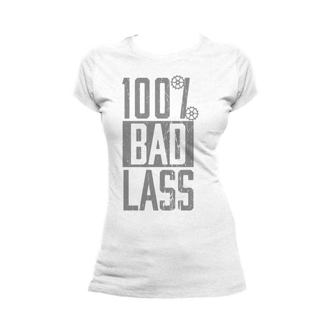 WWE Becky Lynch 100% Bad Lass Official Women's T-shirt (White) - Urban Species Ladies Short Sleeved T-Shirt