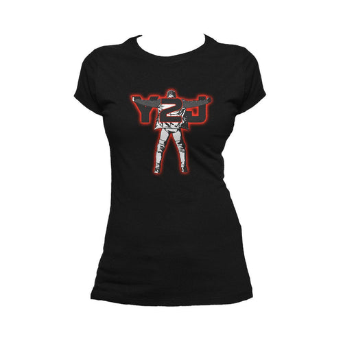 WWE Chris Jericho Y2J Official Women's T-shirt (Black)