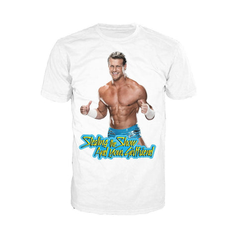 WWE Dolph Ziggler Girlfriend Stealer Official Men's T-shirt (White) - Urban Species Mens Short Sleeved T-Shirt