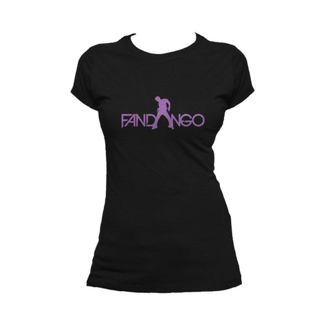 WWE Fandango Logo Purple Official Women's T-shirt (Black) - Urban Species Ladies Short Sleeved T-Shirt