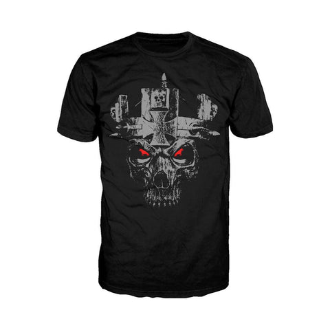 WWE Triple H Skull Official Men's T-shirt (Black) - Urban Species Mens Short Sleeved T-Shirt