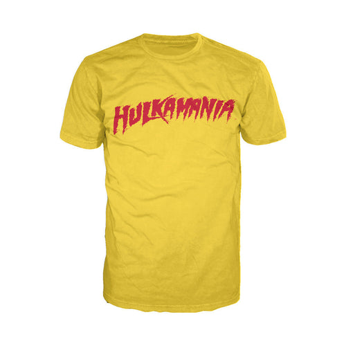 US WWE +Logo Hulk Hogan Hulkamania Yellow