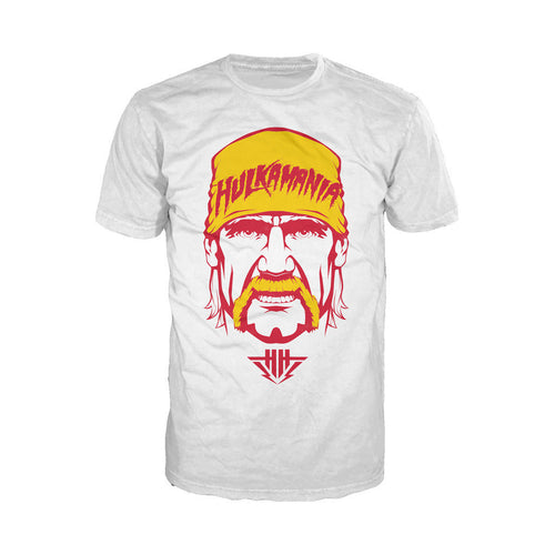 WWE Hulkamania Face Official Men's T-shirt (White) - Urban Species Mens Short Sleeved T-Shirt