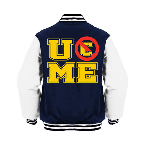 WWE John Cena UCME Stencil Official Varsity Jacket (Navy) - Urban Species Varsity Jacket