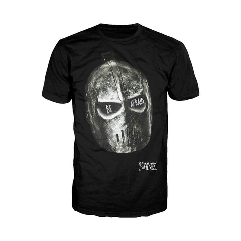 WWE Kane Be Afraid Official Men's T-shirt (Black) - Urban Species Mens Short Sleeved T-Shirt