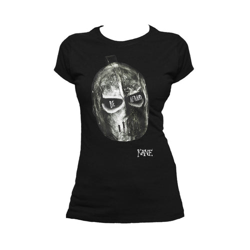 WWE Kane Be Afraid Official Women's T-shirt (Black) - Urban Species Ladies Short Sleeved T-Shirt