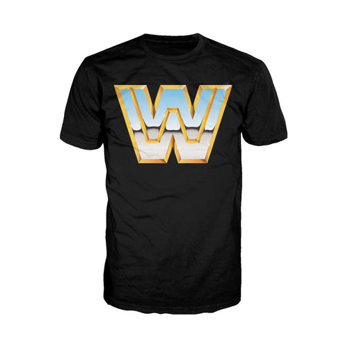 WWE Classic Logo Official Men's T-shirt (Black) - Urban Species Mens Short Sleeved T-Shirt