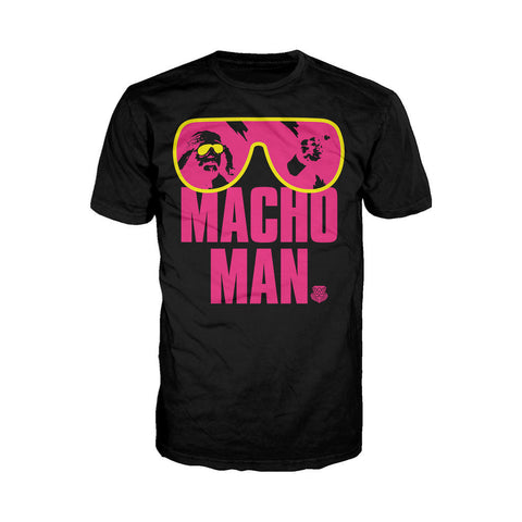 WWE Macho Man Shades Official Men's T-shirt (Black) - Urban Species Mens Short Sleeved T-Shirt