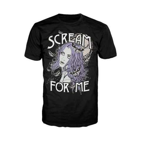 WWE Paige Comic Scream Official Men's T-shirt (Black) - Urban Species Mens Short Sleeved T-Shirt