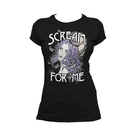 WWE Paige Comic Scream Official Women's T-shirt (Black) - Urban Species Ladies Short Sleeved T-Shirt