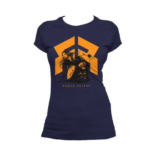 WWE Roman Reigns Pounce Official Women's T-shirt (Navy)