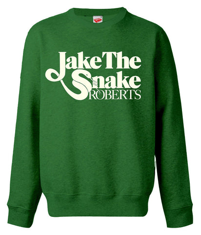 WWE Jake The Snake Roberts Logo Official Sweater (Green) - Urban Species Sweatshirt