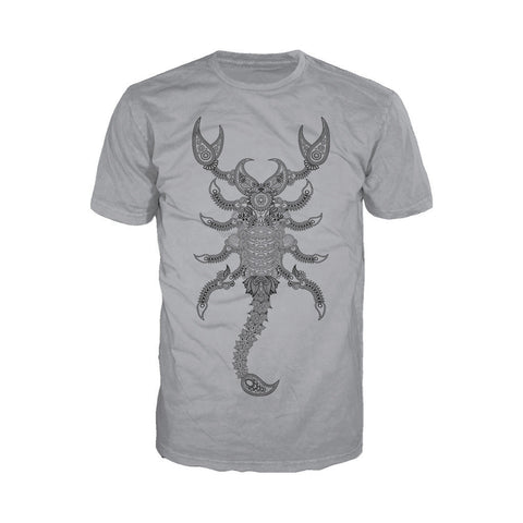 WWE Sting Paisley Scorpion Official Men's T-shirt (Heather Grey) - Urban Species Mens Short Sleeved T-Shirt