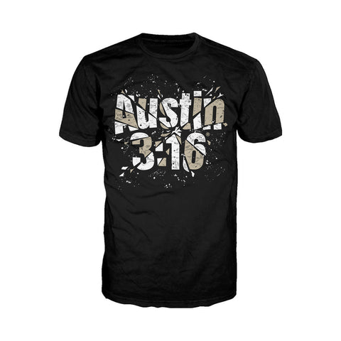 WWE Stone Cold Steve Austin 3:16 Glass Official Men's T-shirt (Black) - Urban Species Mens Short Sleeved T-Shirt