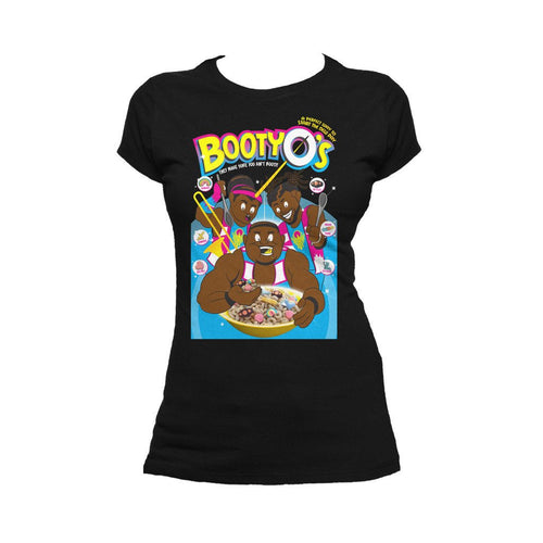 WWE The New Day BootyO`s Official Women's T-shirt (Black)
