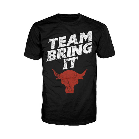 WWE The Rock Bull Team Bring It Official Men's T-shirt (Black)