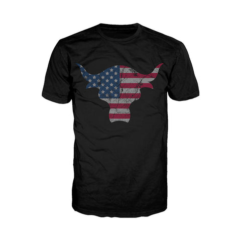 WWE The Rock USA Bull Official Men's T-shirt (Black) - Urban Species Mens Short Sleeved T-Shirt