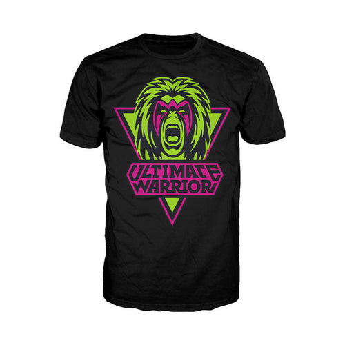 WWE Ultimate Warrior Logo Face Official Men's T-shirt (Black) - Urban Species Mens Short Sleeved T-Shirt