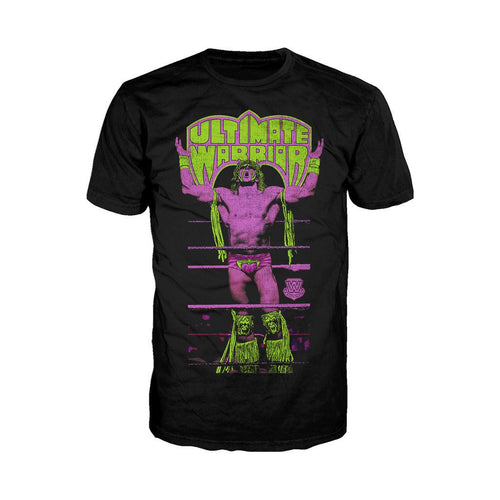 WWE Ultimate Warrior Ropes Official Men's T-shirt (Black)