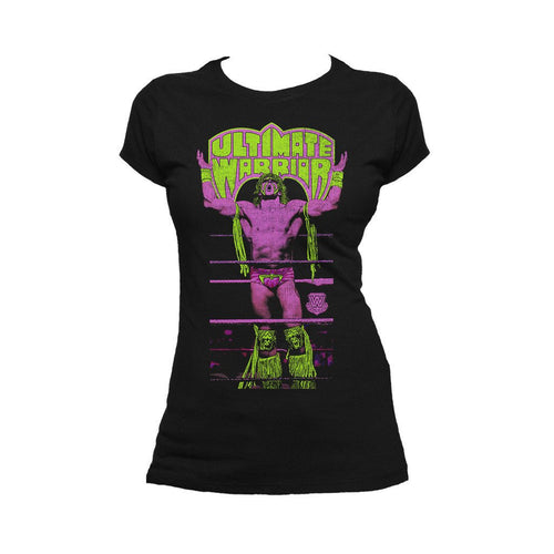 WWE Ultimate Warrior Ropes Official Women's T-shirt (Black)