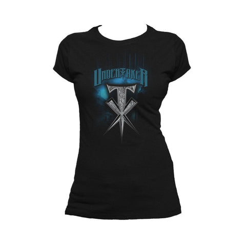 WWE Undertaker Spike Official Women's T-shirt (Black) - Urban Species Ladies Short Sleeved T-Shirt