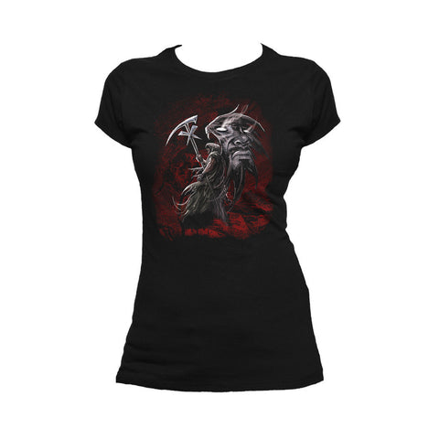 WWE Undertaker Wing Reaper Official Women's T-shirt (Black) - Urban Species Ladies Short Sleeved T-Shirt