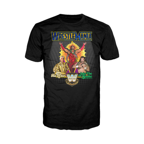 WWE WrestleMania Legends Official Men's T-shirt (Black) - Urban Species Mens Short Sleeved T-Shirt
