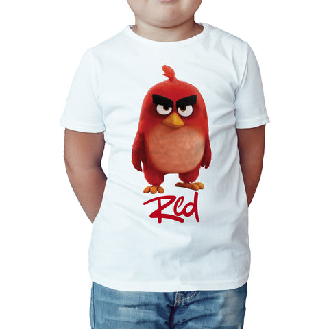 Angry Birds Red Pose Official Kid's T-shirt (White) - Urban Species Kids Short Sleeved T-Shirt
