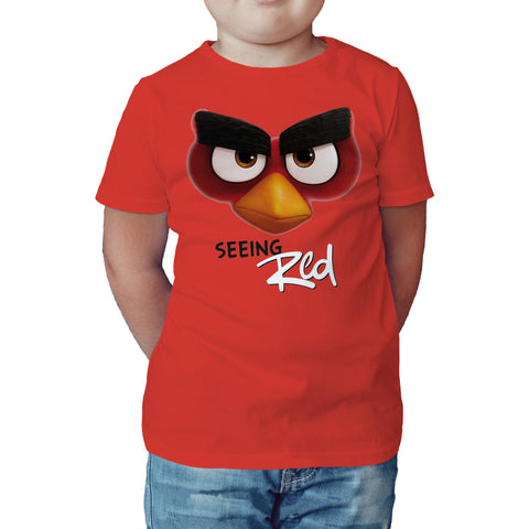 Angry Birds Red Seeing Angry Official Kid's T-shirt (Red) - Urban Species Kids Short Sleeved T-Shirt
