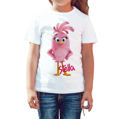 Angry Birds Stella Pose Official Kid's T-shirt (White) - Urban Species Kids Short Sleeved T-Shirt