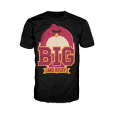 Angry Birds Terence Text Big Official Men's T-Shirt (Black)