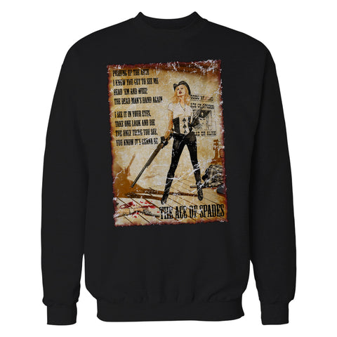 Cool New Motorhead Mike Mayhew Ace of Spades Official Sweatshirt (Black) - Urban Species Mens Sweatshirt