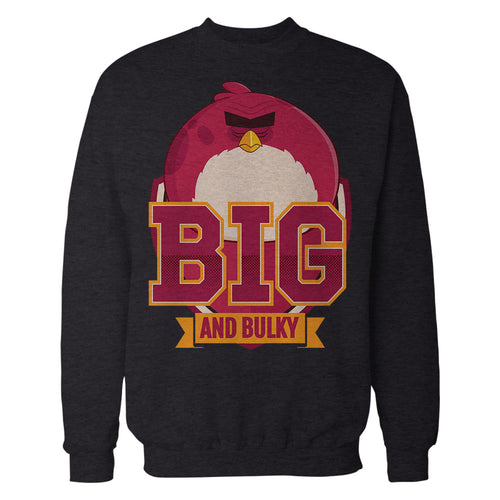 Angry Birds Terence Text Big Official Sweatshirt (Black) - Urban Species Mens Sweatshirt