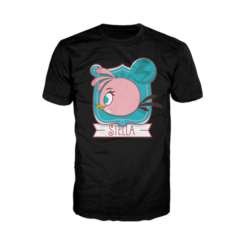 Angry Birds Stella Logo Side Official Men's T-Shirt (Black)