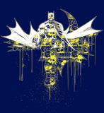 DC Comics Batman Graff Official Men's T-shirt (Navy) - Urban Species Mens Short Sleeved T-Shirt