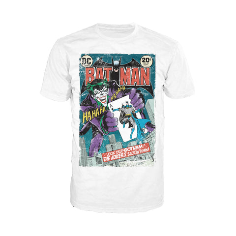 DC Comics Batman Cover 251 Joker Official Men's T-shirt (White) - Urban Species Mens Short Sleeved T-Shirt