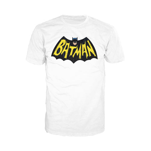 DC Comics Batman 66 Logo Official Men's T-Shirt (White) - Urban Species Mens Short Sleeved T-Shirt