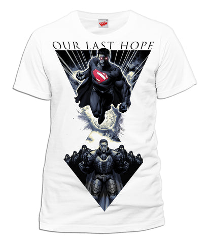 DC Man Of Steel Last Hope Official Men's T-shirt (White) - Urban Species Mens Short Sleeved T-Shirt