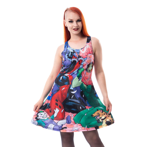 Harley Quinn Sleepover Dress Ladies