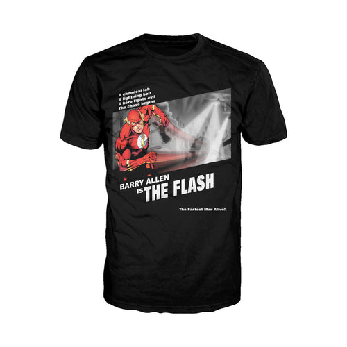 DC Comics Flash Fashion Fugitive Official Men's T-shirt (Black) - Urban Species Mens Short Sleeved T-Shirt