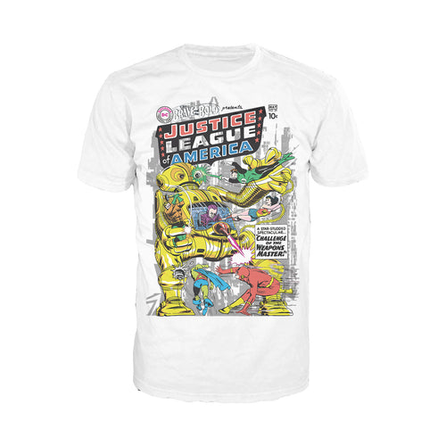 DC Comics Justice League Cover 29 Official Men's T-shirt (White) - Urban Species Mens Short Sleeved T-Shirt