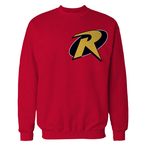 DC Comics Robin Logo Breast Official Sweatshirt (Red) - Urban Species Mens Sweatshirt