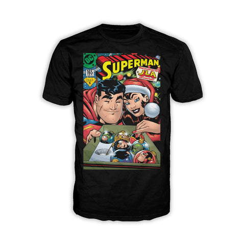 US DC Superman Cover 165 Xmas Lois Lane Men's T-Shirt Black - Urban Species Mens Short Sleeved T-Shirt